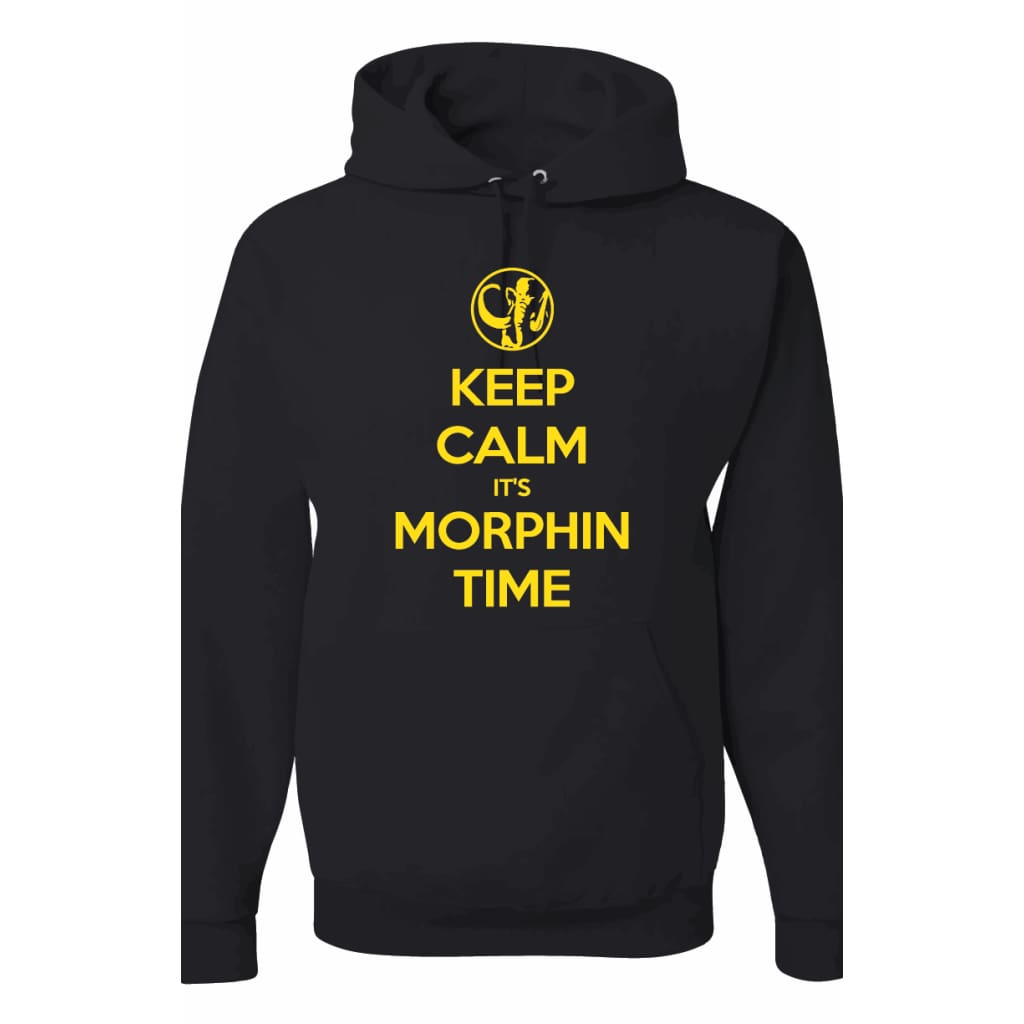 Keep Calm Mastodon Power Rangers Power Coin Unisex Pullover Hoodie Black/cal Gold - Hoodie