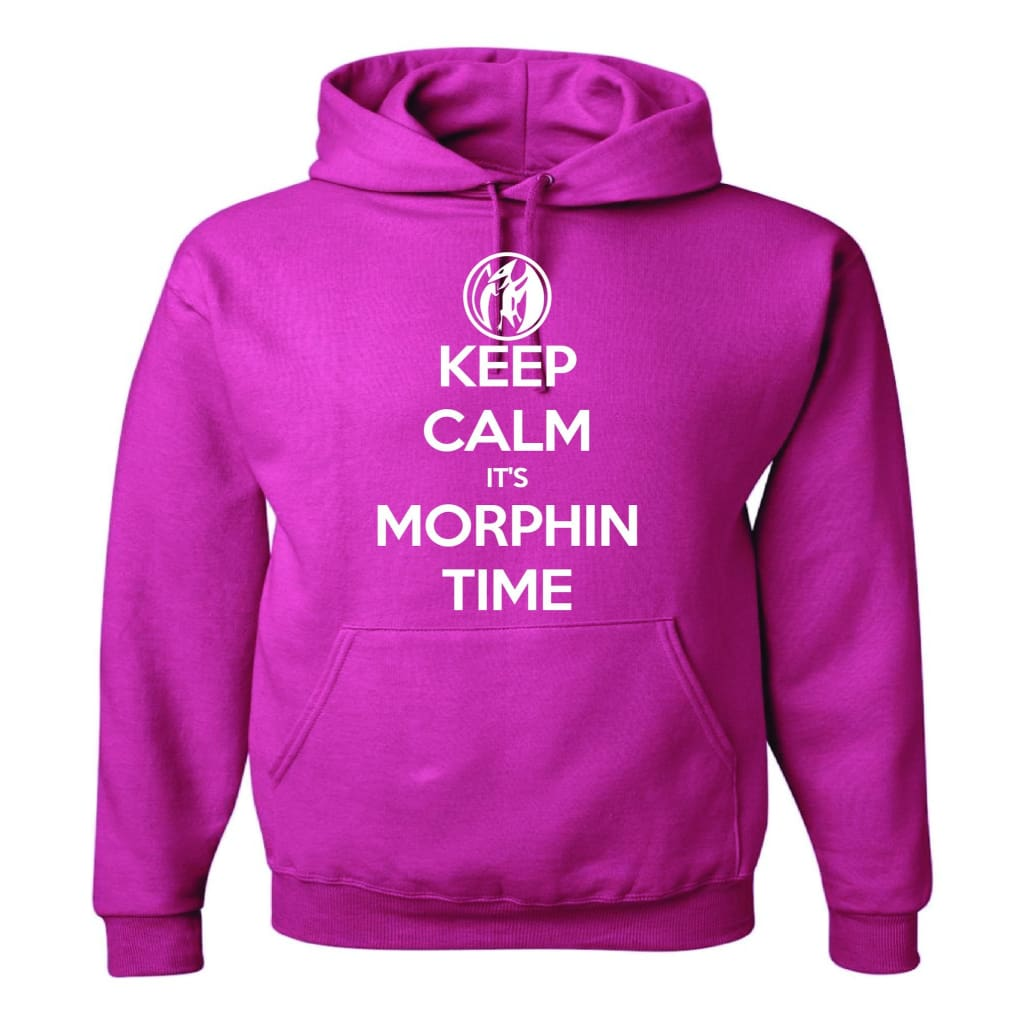 Keep Calm Pterodactyl Power Rangers Power Coin Unisex Pullover Hoodie Cyber Pink/white - Hoodie