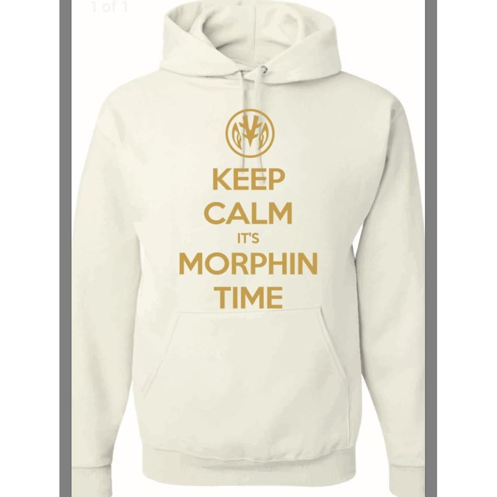 Keep Calm Tigerzord Power Rangers Power Coin Unisex Pullover Hoodie White/gold - Hoodie
