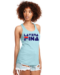 "SUCIOWEAR OFFICIAL ""Latina Fina"" Next Level Racerback Tanks Multiple Colors"