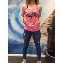 Lifestyle Jiujitsu Hot Pink or Lilac Racerback Tanks and Tees - Tank Top