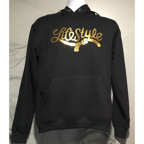 Lifestyle Jiujitsu  Pullover Hoodies Black/Gold Foiled