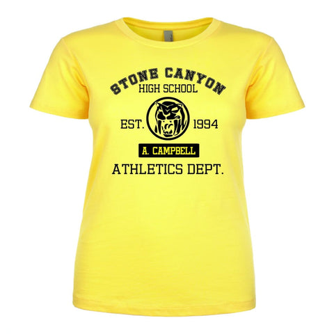 Official Aisha Campbell Stone Canyon Athletic Dept. Ladies Tee Yellow/Black