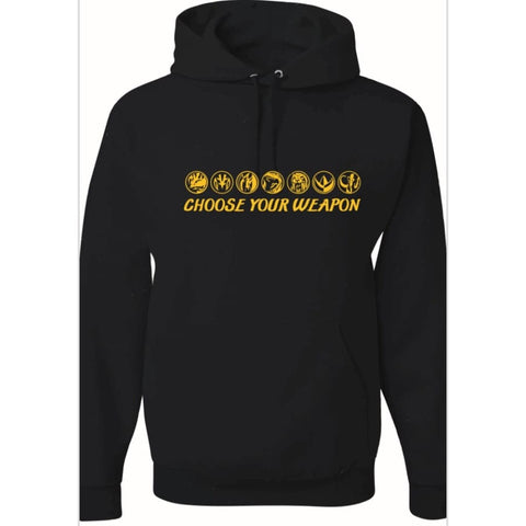 "SUCIOWEAR OFFICIAL ""Choose your Weapon"" Pullover Hoodie Black/Gold Foil"