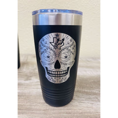 SUCIOWEAR OFFICIAL DIA DE LOS MUERTOS TEXAS/SPURS 20 OZ INSULATED TUMBLER