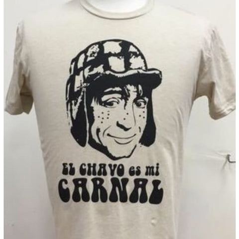 "SUCIOWEAR OFFICIAL ""El Chavo es mi Carnal"" Next Level Unisex Tee Beige/Black"