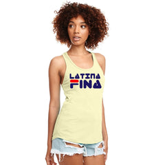 SUCIOWEAR OFFICIAL Latina Fina Next Level Racerback Tanks Multiple Colors - Tank Top