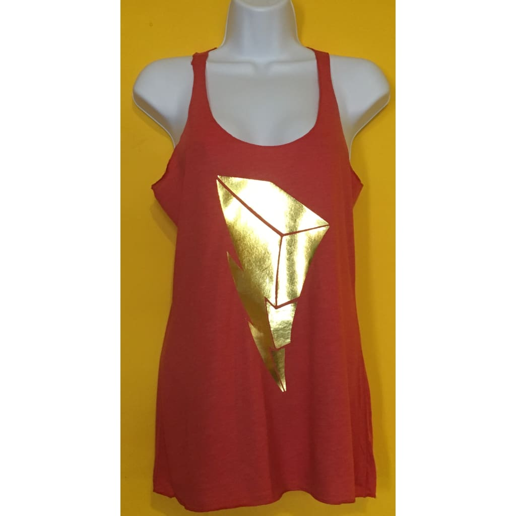 Suciowear Official Lightning Bolt Bella Canvas Ladies Triblend Tank Top Green/red