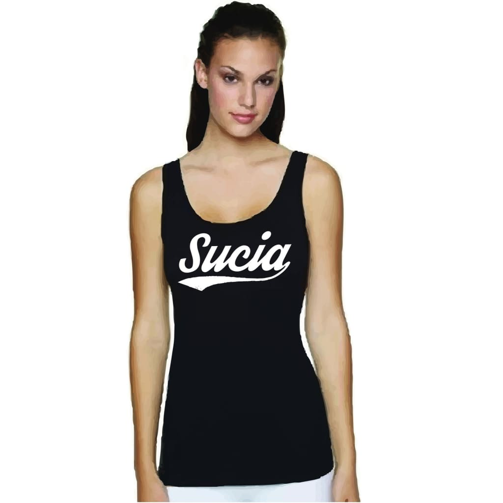 Suciowear Official Sucia Baseball Font Next Level Ladies Tank Black/white - T-Shirt