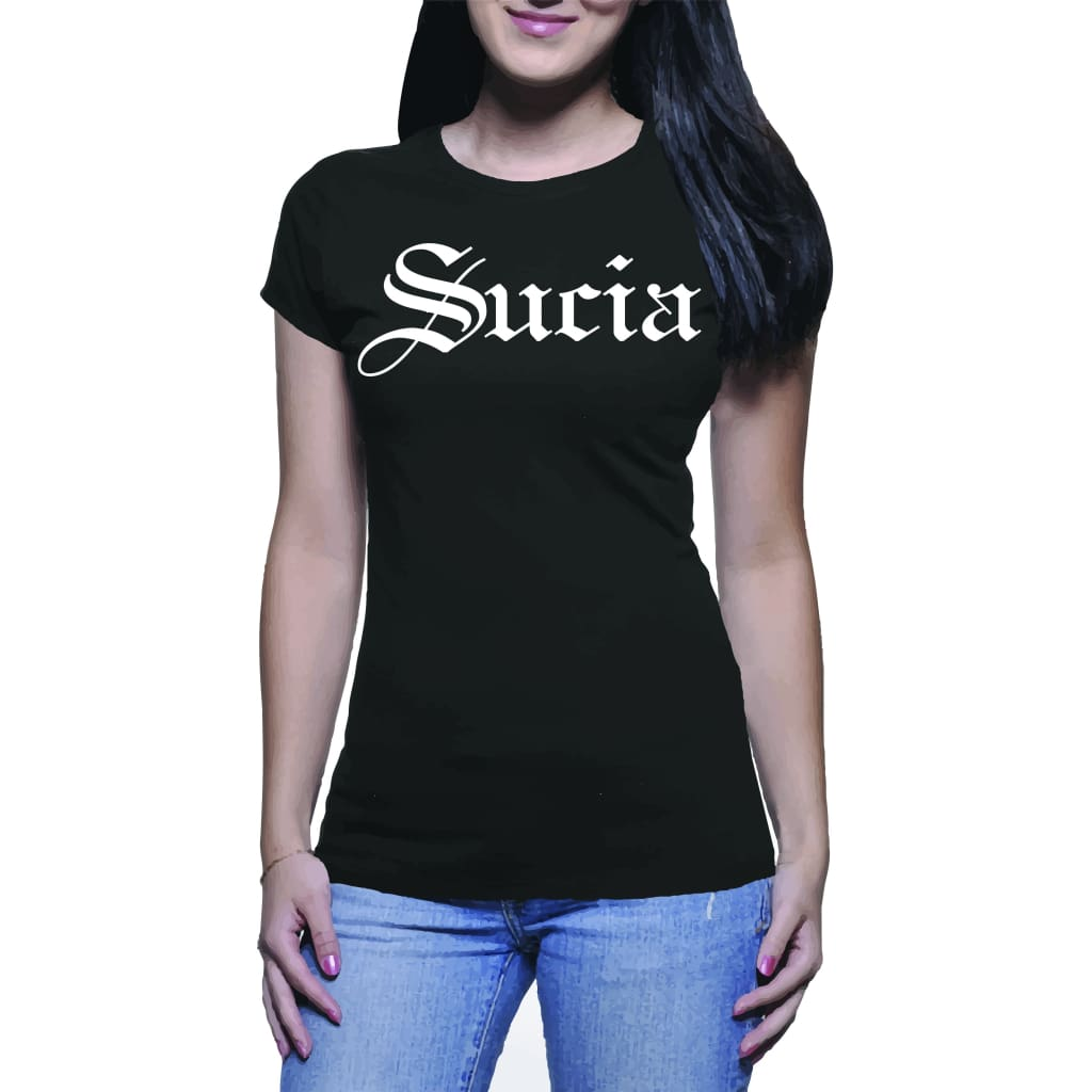Suciowear Official Sucia Next Level Ladies Tee Black/white