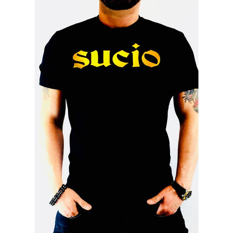 "SUCIOWEAR OFFICIAL ""SUCIO"" Gold Foiled Next Unisex Tee Black/Gold Foil"