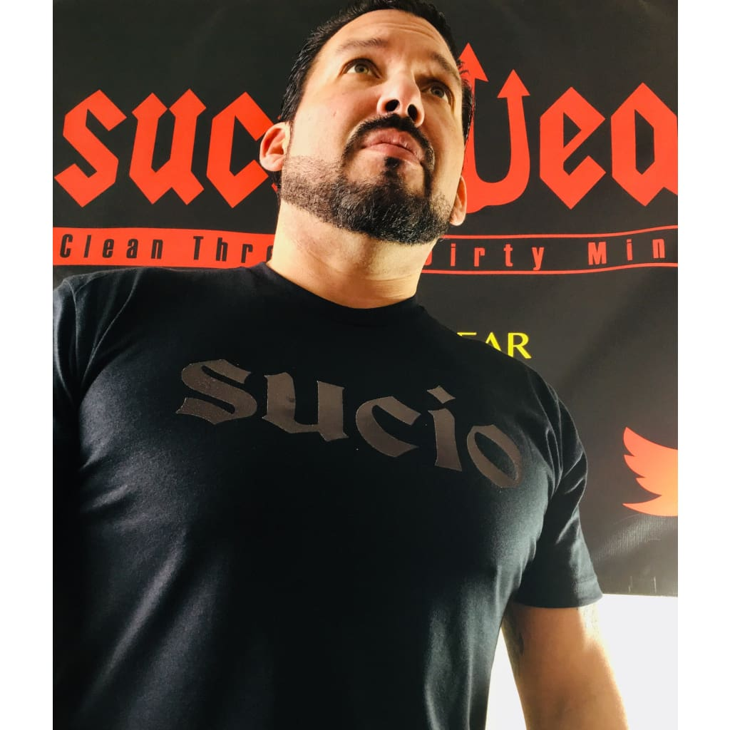 SUCIOWEAR OFFICIAL Sucio Metallic Black/Black Unisex Next Level Tees