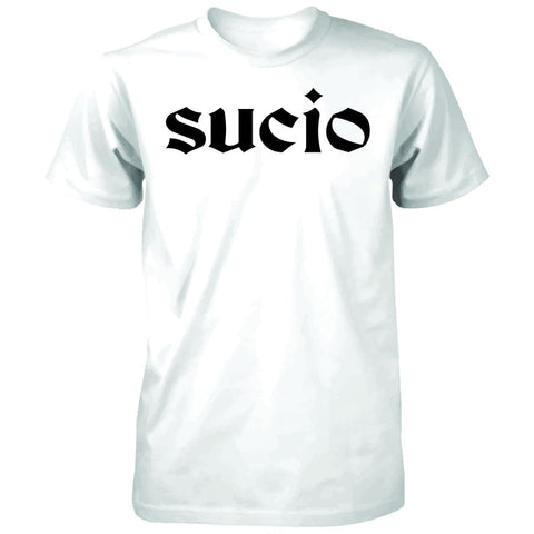 "SUCIOWEAR OFFICIAL ""SUCIO""  Next Level Unisex Tee White/Black"