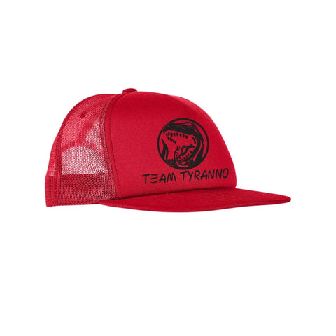 "SUCIOWEAR OFFICIAL ""Team Tyranno"" Foam Trucker Flatbill Snapback Hat Red"