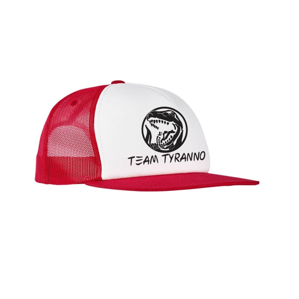 SUCIOWEAR OFFICIAL Team Tyranno Foam Trucker Flatbill Snapback Red/White/Red - hats
