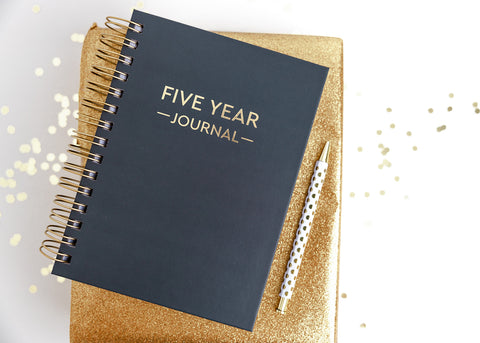 Five Year Journal Gift Set - Charcoal Gray