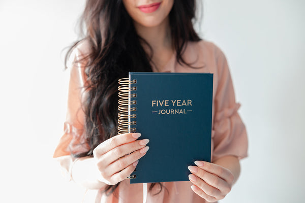 Five Year Journal Gift Set - Midnight Blue