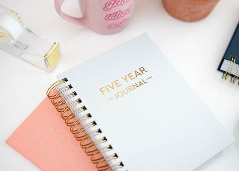 Five Year Journal Gift Set - Misty Gray