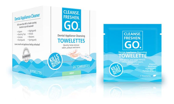 Immediate, Effective, Exciting Mint Fresh Cleanse.Freshen.Go. Towelettes