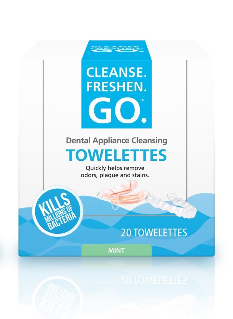 Cleanse.Freshen.Go™ Dental Appliance Cleansing Towelettes
