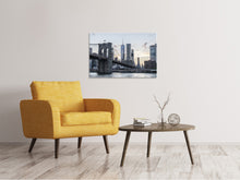 Lade das Bild in den Galerie-Viewer, Leinwandbild Die Brooklyn Bridge am Abend