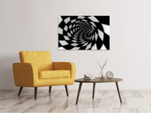 Lade das Bild in den Galerie-Viewer, Leinwandbild Abstrakter Tunnel Black & White