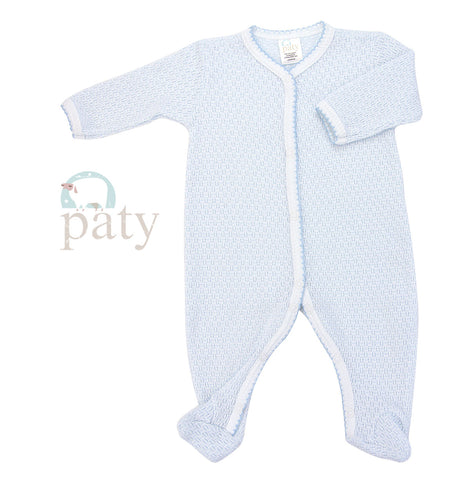 Paty Long Sleeve Blue Footie