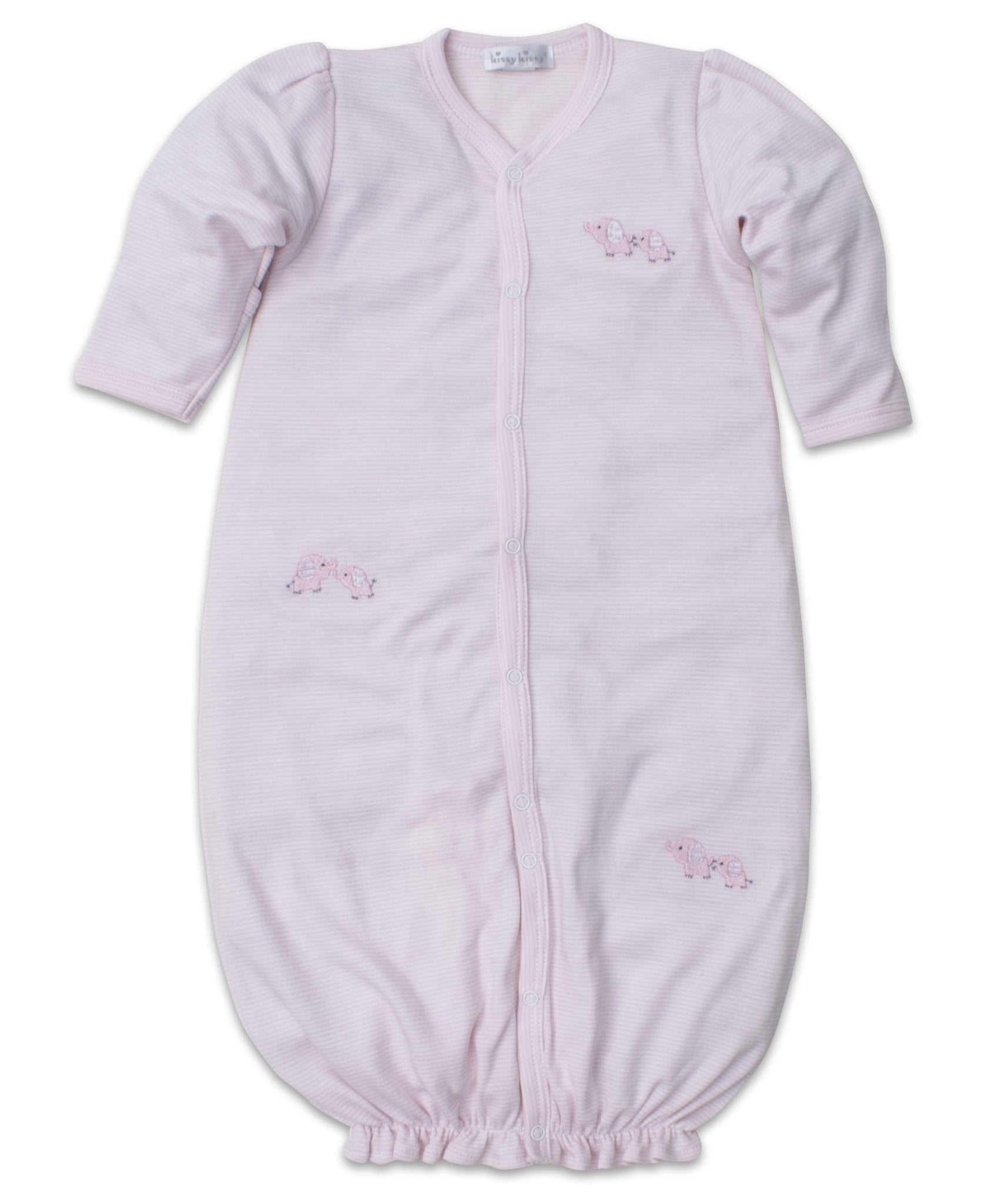 Baby Trunks Converter Gown Pink Stripe