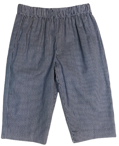 Vive La Fete Navy Check Pull On Pant