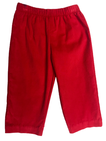 Vive La Fete Red Mini Cord Pant