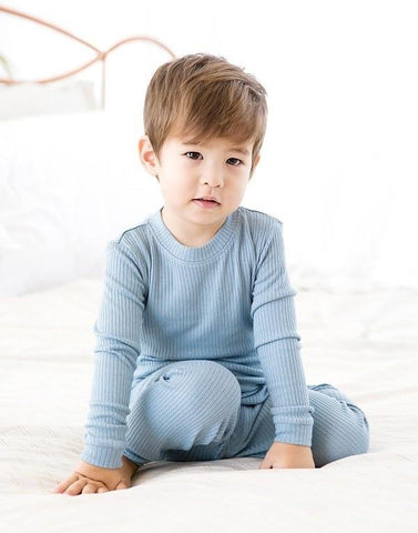 Ribbed Modal Long sleeve Pajama Set