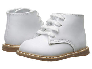 White Leather Hi-Top Walking Shoe
