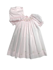 Basic Smocked Dress with Hemline Roses