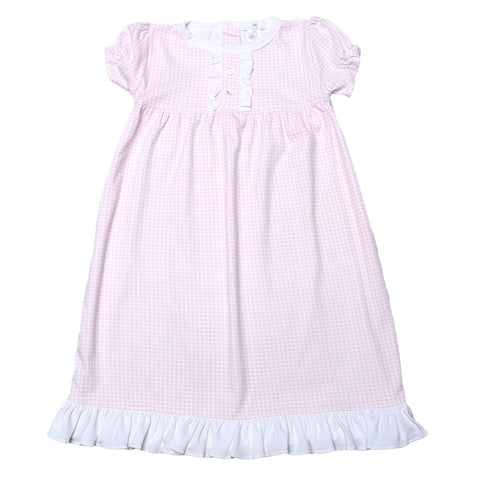 Olivia Pink Gingham Nightgown