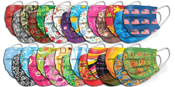 Pattern Disposable Face Mask 25 Pcs/Package