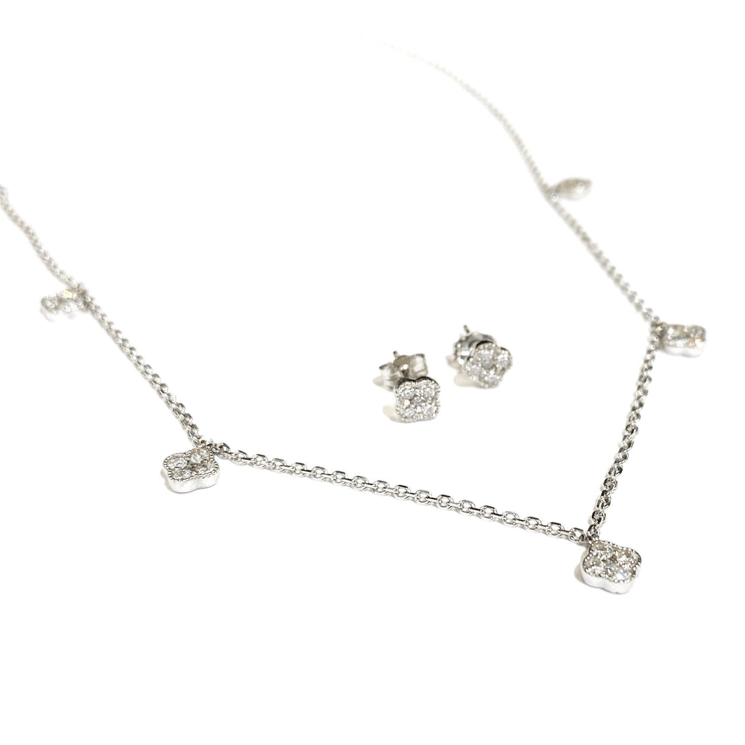 Diamond Karina Choker and Earring Set in 14k Gold