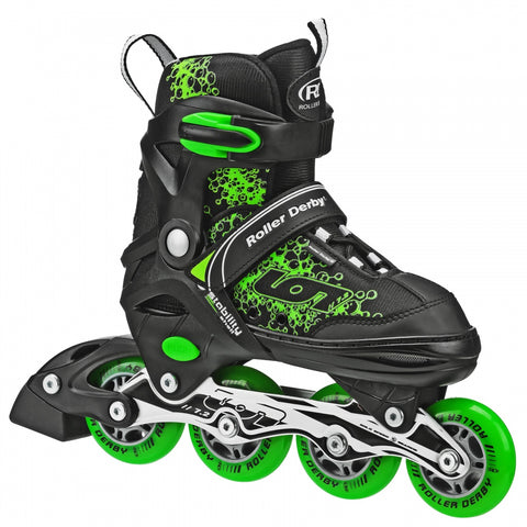 Roller Derby Ion Adjustable Inline Skates - Blk/Gre