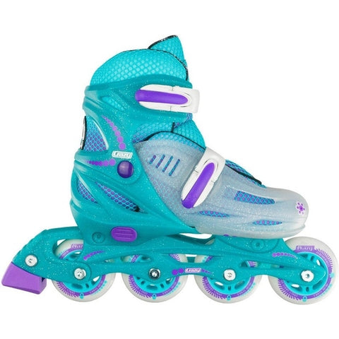 148 Glitter Adjustable Inline Skate - Teal