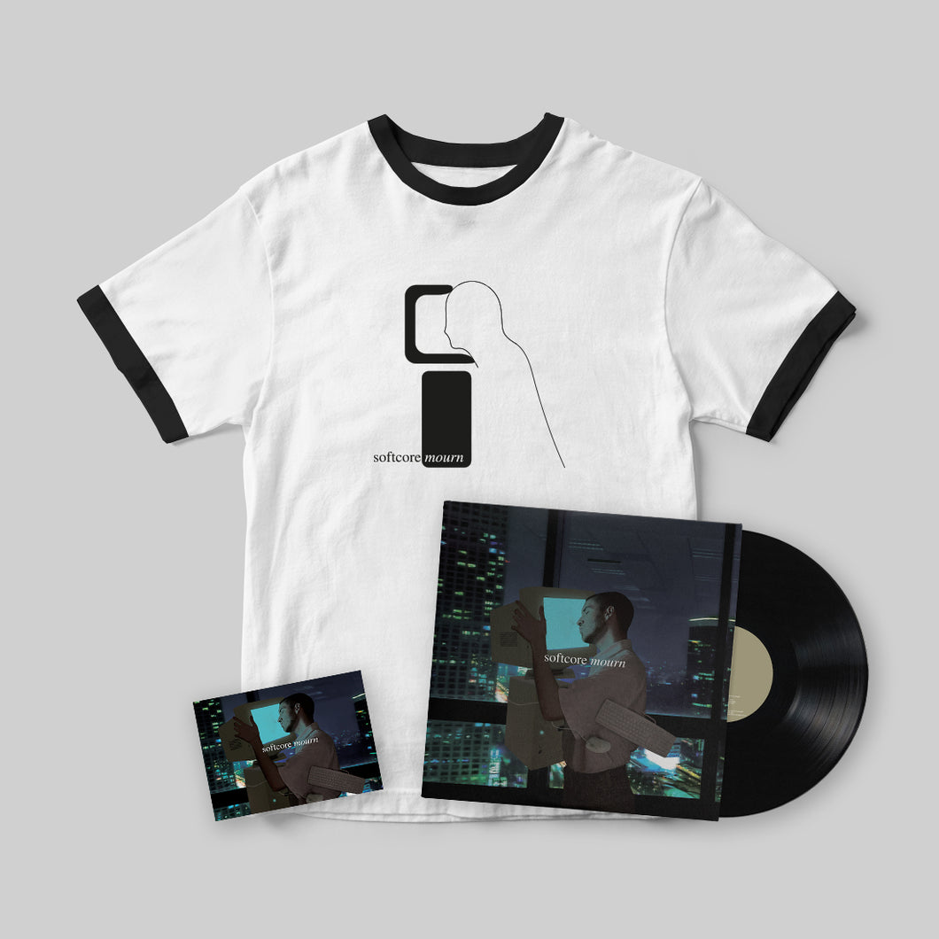 PIZZAGIRL - SOFTCORE MOURN LP + T-SHIRT BUNDLE