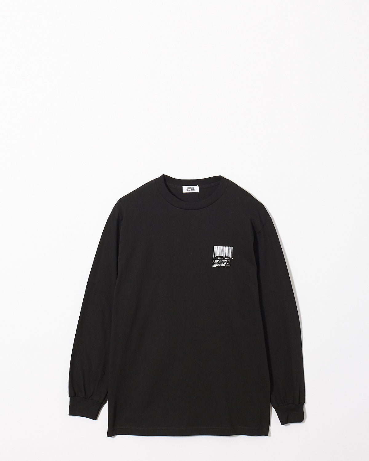 STUDIO BLANCHE / BARCORD PRINT LONG SLEEVE Tee(black)