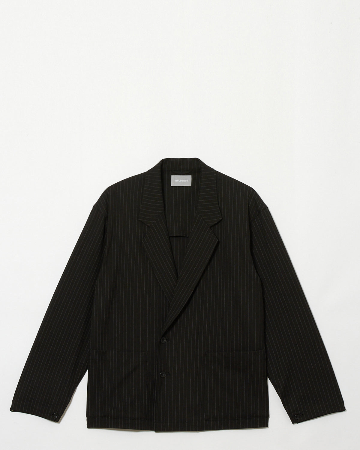 INFLUENCE / Stripe Double Jacket (black)