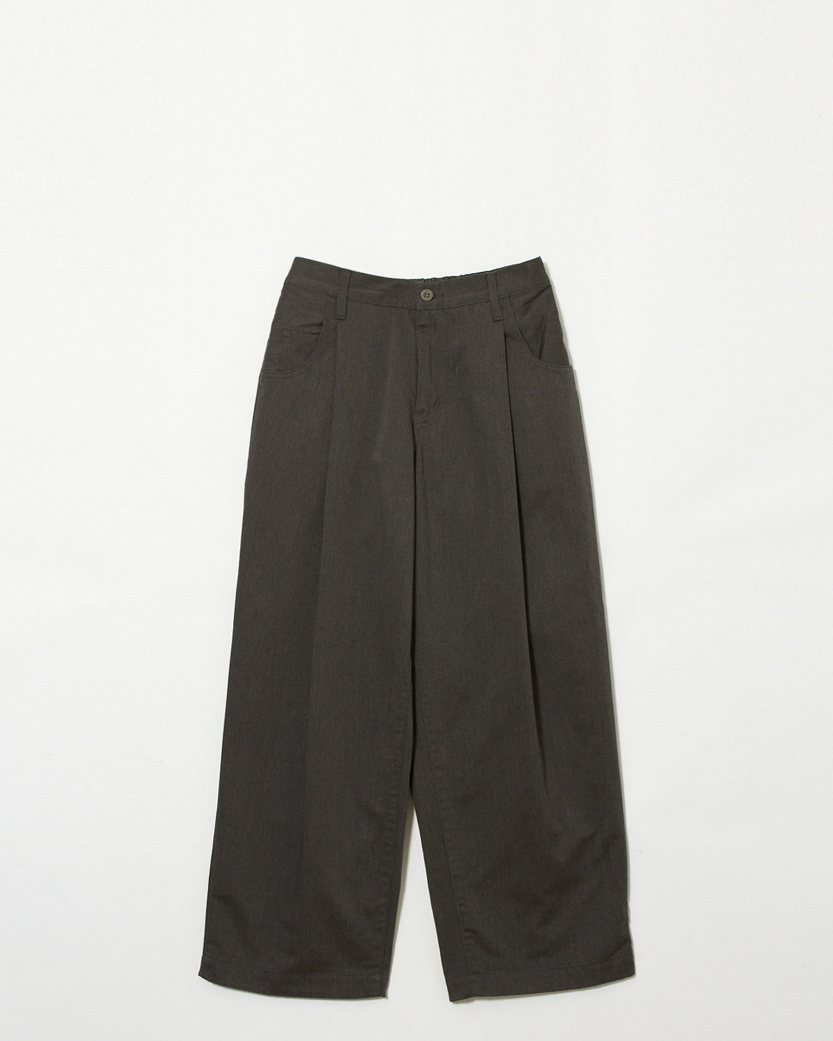 INFLUENCE / Tuck Wide Pants (gray)