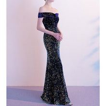 Load image into Gallery viewer, #5019 Sequins Fishtail Evening Dress