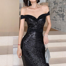 Load image into Gallery viewer, #5023 Sequin Fishtail Long Evening Dress