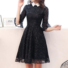 Load image into Gallery viewer, #5025 Black Sequins Dress