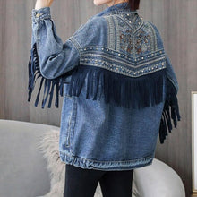 Load image into Gallery viewer, #5031 Embroidered Tassel Denim Jacket