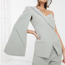 Load image into Gallery viewer, #5040 One-shoulder blazer Jacket