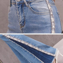 Load image into Gallery viewer, #5050 Embroidery Bead Jeans Trousers