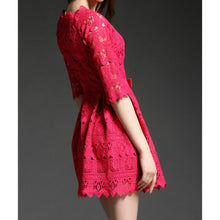 Load image into Gallery viewer, #5110 Embroidered Cutout Lace Dress