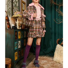 Load image into Gallery viewer, Plaid wool woolen jacket